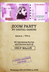 ZOOM Party w/ Digital Gandhi