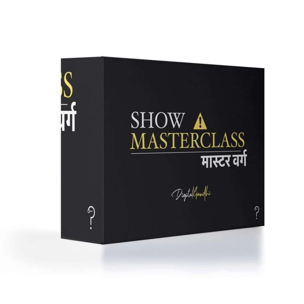 Presentation Masterclass by Digital Gandhi - Good Network by Digital Gandhi Digital Gandhi ,