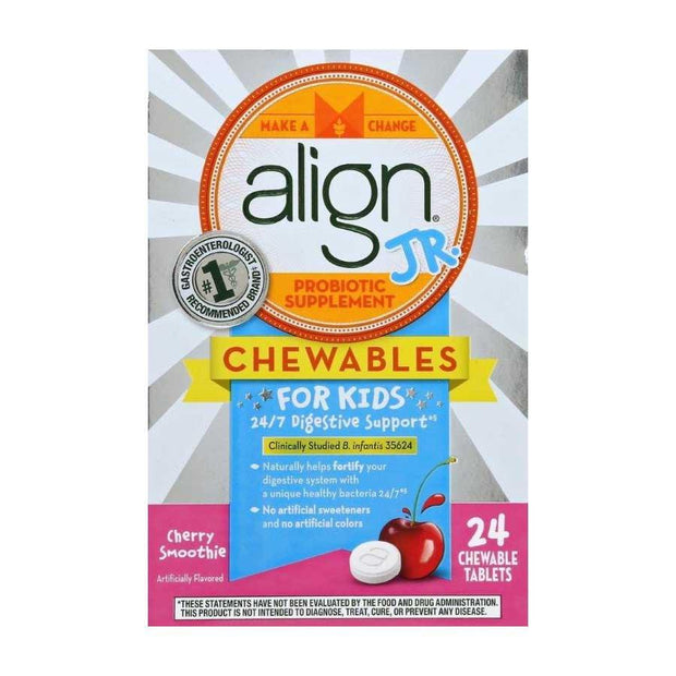 Align Jr. Probiotic Supplement Cherry Chewable Tablets