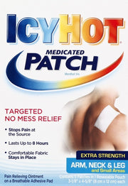 Icy Hot Pain Relief Patch Extra Strength Arm/Neck/Leg 5 ct