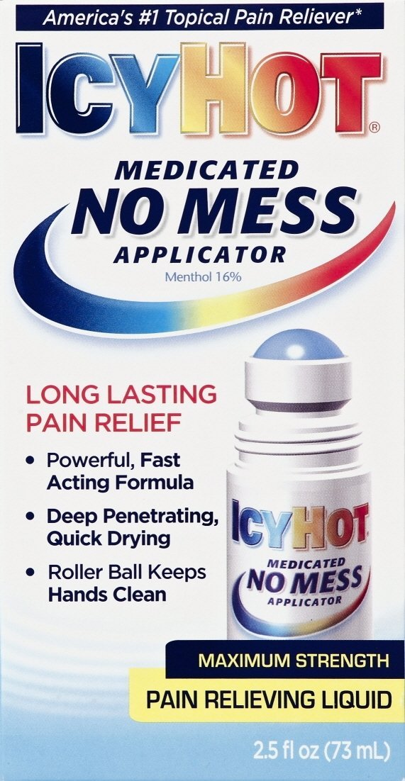 Icy Hot Pain Relief No Mess Applicator Liquid 2.9 oz