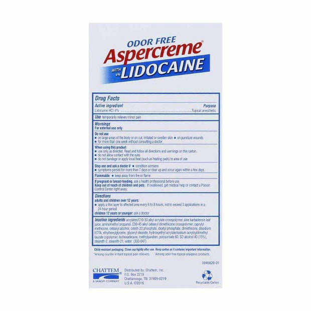 Aspercreme Lidocaine No Mess Applicator