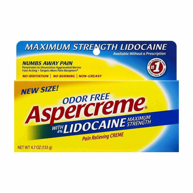 Aspercreme with Lidocaine Odor Free Cream