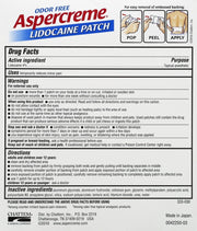 Aspercreme Lidocaine Patch 5 ct