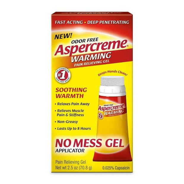 Aspercreme Warming Pain Relief Gel No Mess Applicator