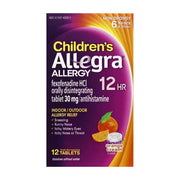 Allegra Children's 12 Hour Allergy Relief 30mg Orange Cream Dissolve Tablets
