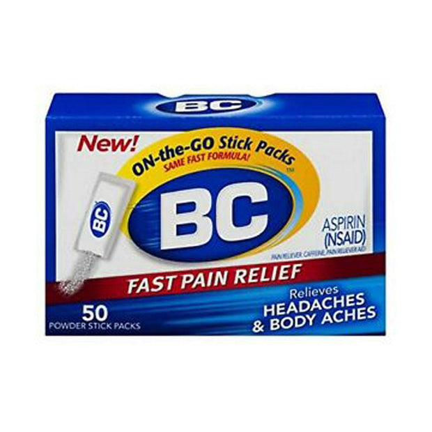 BC Aspirin Fast Pain Relief 845-65mg Powder Packets