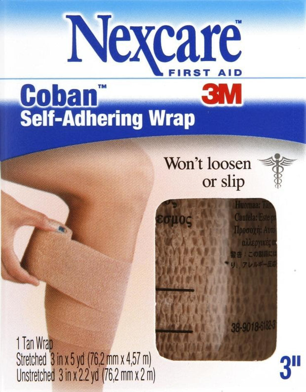 Nexcare Wrap Coban Self-Adhering 3 in. x 5 yd