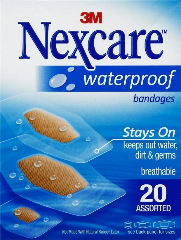 Nexcare Adhesive Bandages Waterproof Clear Assorted
