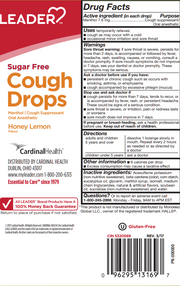 LEADER Cough Drops Sugar Free Honey Lemon 25 ct
