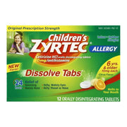 Zyrtec Children's 24 Hour Allergy Relief Citrus Dissolve Tablets