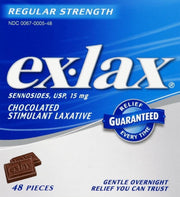Ex-Lax Stimulant Laxative 15mg Chocolate Chewables