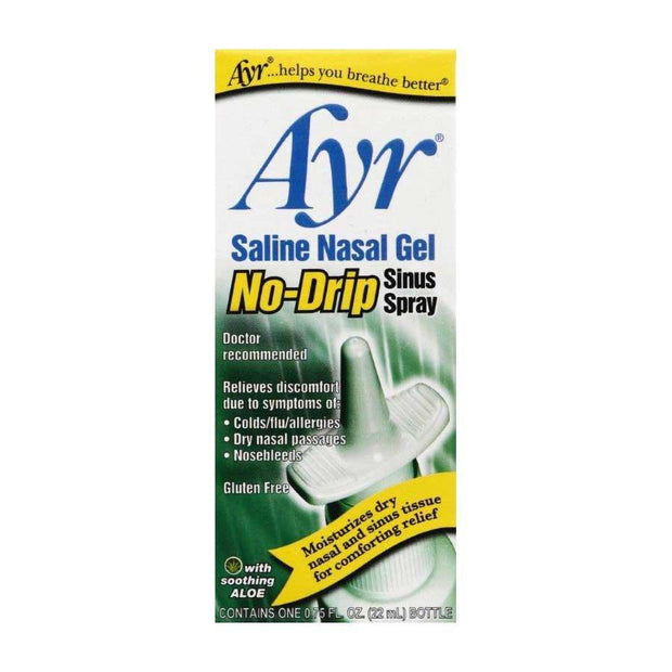 Ayr Saline Nasal Gel No-Drip Sinus Spray 0.75 oz