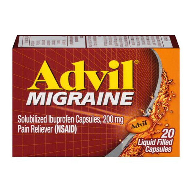 Advil Migraine Pain Relief 200mg Liquid-Filled Capsules