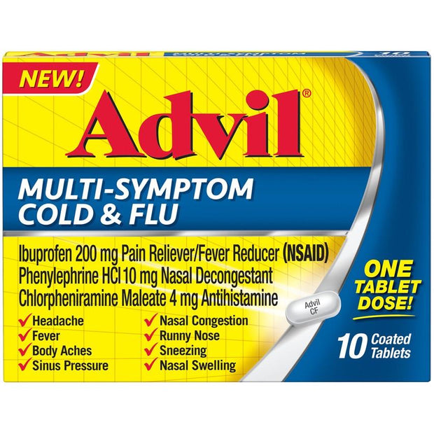 Advil Multi-Symptom Cold & Flu Coated Tablets