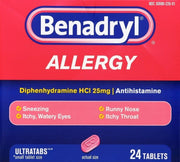 Benadryl Allergy Relief 25mg Ultratabs