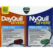 Vicks DayQuil/NyQuil Severe VapoCool Cold & Flu Liquicaps
