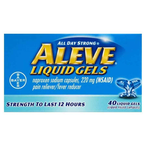 Aleve All Day Strong Pain Reliever/Fever Reducer Naproxen Sodium 220mg Liquid Gels