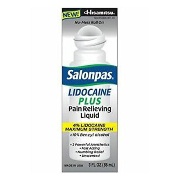 Salonpas Lidocaine Plus Maximum Strength Pain Relief Liquid Roll-On