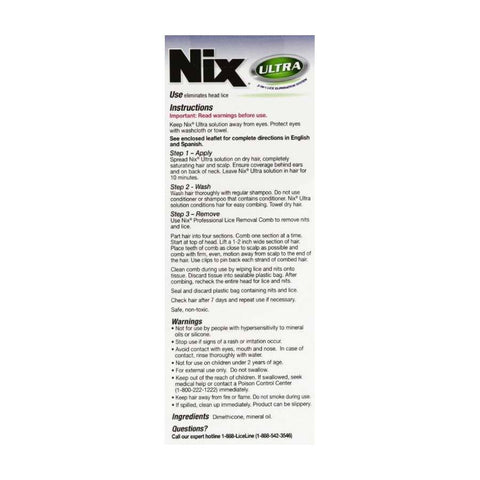 Nix Ultra 2-in-1 Lice Treatment with Comb – Tri-State Pharmacy