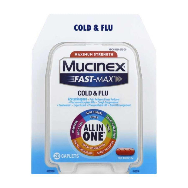 Mucinex Fast-Max Severe Cold Caplets