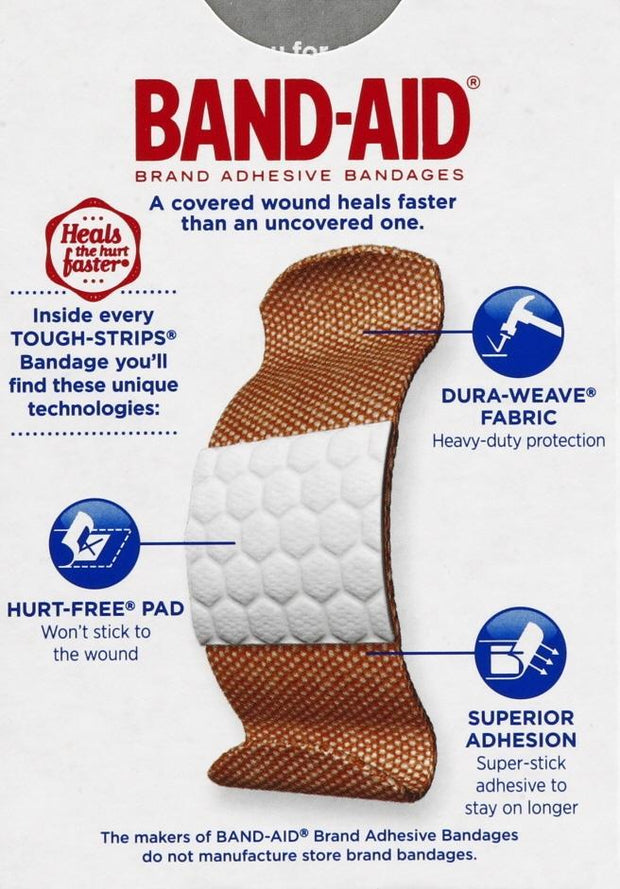 Band-Aid Tough Strips Adhesive Bandages Assorted 20 ct