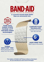 Band-Aid Sheer Strips Adhesive Bandages One Size