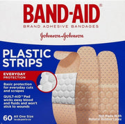 Band-Aid Plastic Adhesive Bandages One Size 60 ct