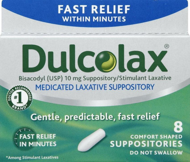 Dulcolax Laxative 10mg Suppositories
