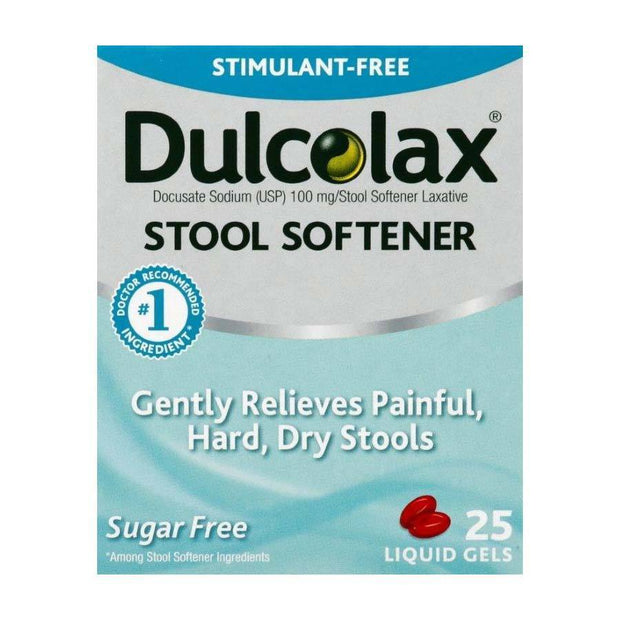 Dulcolax Stool Softener 100mg Liquid Gels