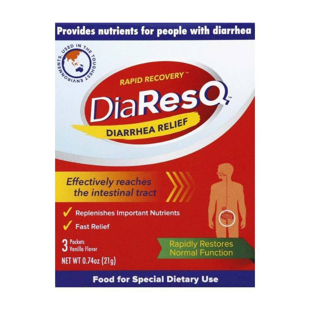 DiaResQ Diarrhea Relief Vanilla Powder