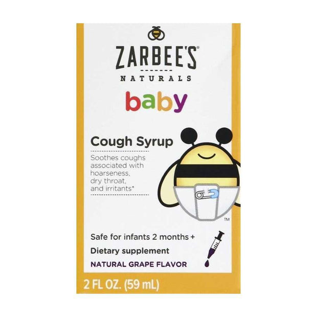 Zarbee's Naturals Baby Cough Syrup Grape Liquid