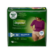 Depend Fit-Flex Briefs Women's Medium