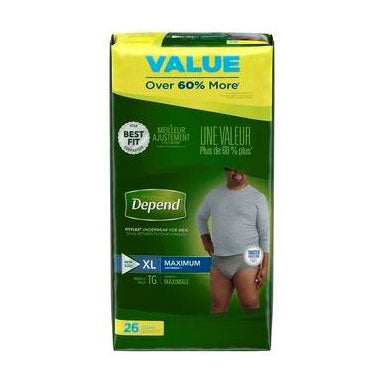 Depend Fit-Flex Briefs Men's X-Large