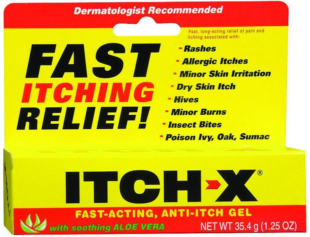 Itch-X Fast Itching Relief with Aloe Vera Gel 25 oz
