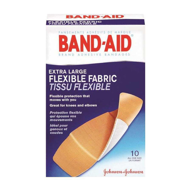 Band-Aid Flexible Fabric Adhesive Bandages Extra Large 10 ct