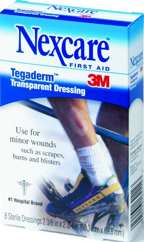 Nexcare Tegaderm Transparent Waterproof Dressing 2.375 in. x 2.75 in. 8 ct
