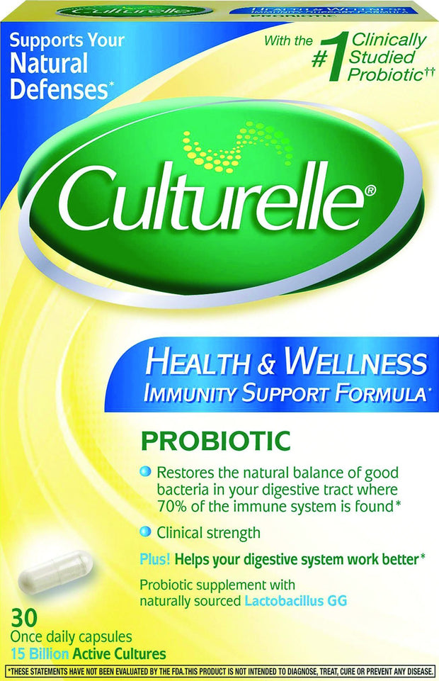 Culturelle Pro-Well Health & Wellness Probiotic Capsules 30 ct