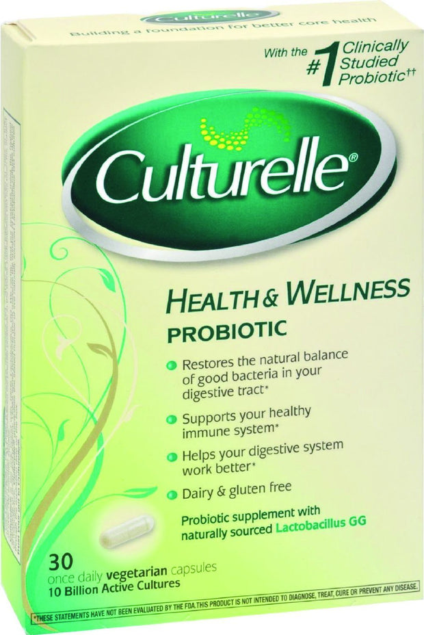 Culturelle Health & Wellness Daily Probiotic Capsules 30 ct
