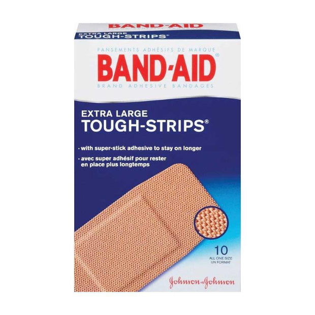 Band-Aid Tough Strips Adhesive Bandages Extra Large 10 ct