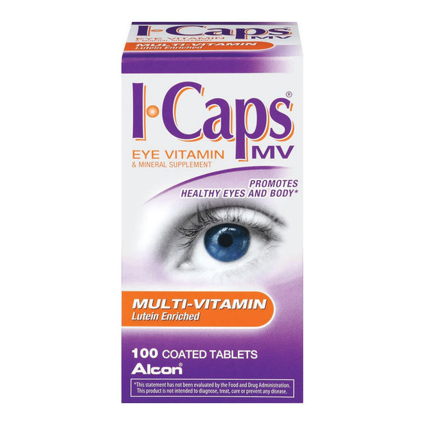 I-Caps MV Eye Vitamin Multivitamin with Lutein Tablets 100 ct