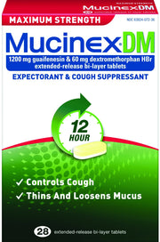 Mucinex DM 12 Hour Expectorant & Cough Suppressant Max Strength Tablets
