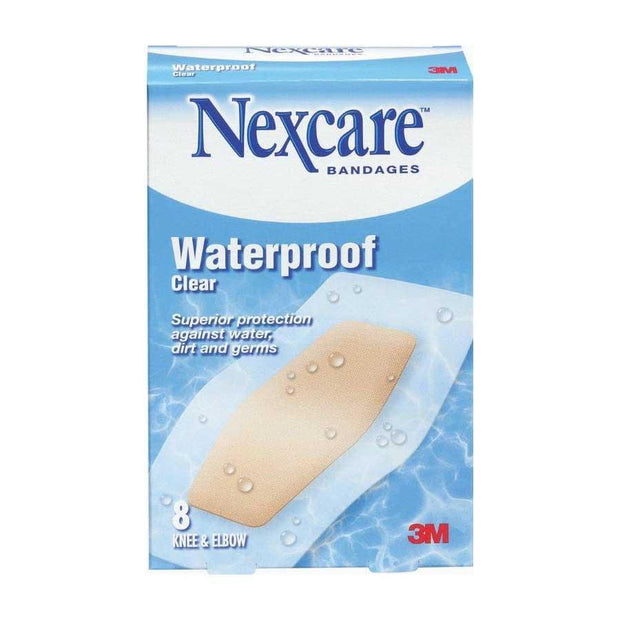 Nexcare Adhesive Bandages Waterproof Clear Knee/Elbow 8 ct