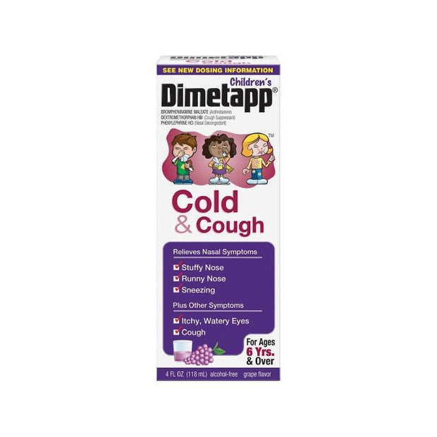 Children's Dimetapp Cough & Cold Grape Elixir 4 oz