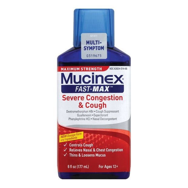 Mucinex Fast-Max Severe Congestion & Cough Max Strength Liquid 6 oz