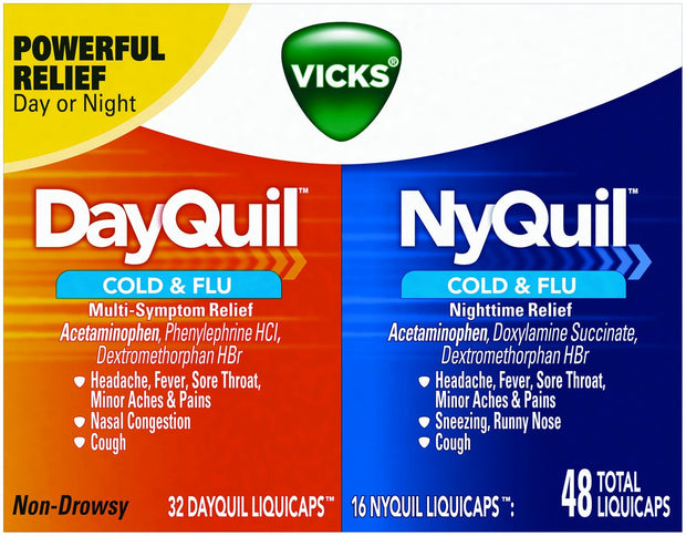 Vicks DayQuil/NyQuil Cold & Flu LiquiCaps 48 ct
