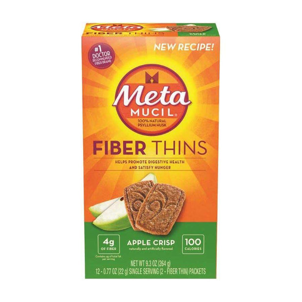 Metamucil Apple Crisp Fiber Thins 24 ct