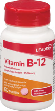 LEADER Vitamin B-12 1000mcg Extended Release Tablets 60 ct