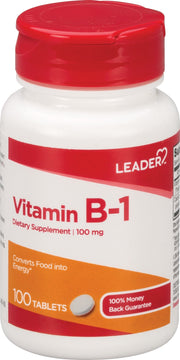 LEADER Vitamin B-1 100mg Tablets 100 ct