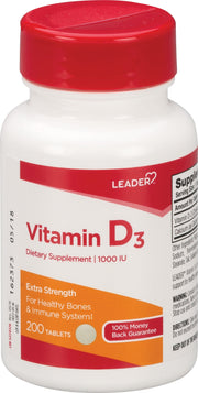 LEADER Vitamin D3 1000IU Tablets